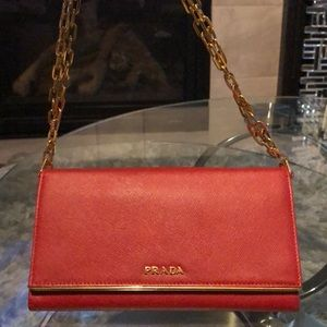 Prada red purse - LIKE NEW